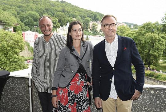 Simona s Karlem Dobrým a Onřejem Havelkou