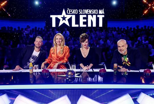 S Jakubem Prachařem zasedla v porotě Talentu.