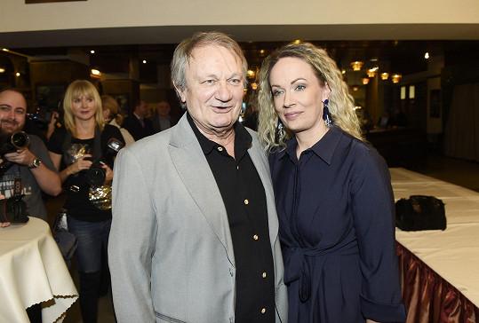 Herečka s režisérem Jiřím Adamcem