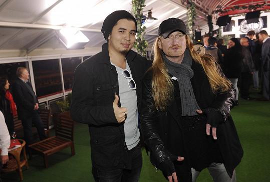 Marcus Tran s kamarádem z kapely Walda Gang