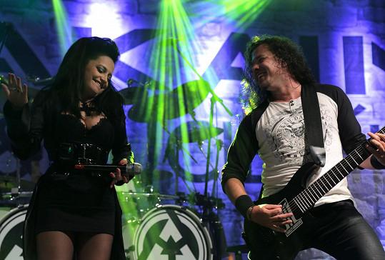 S Lucií Bílou na koncertu Arakainu