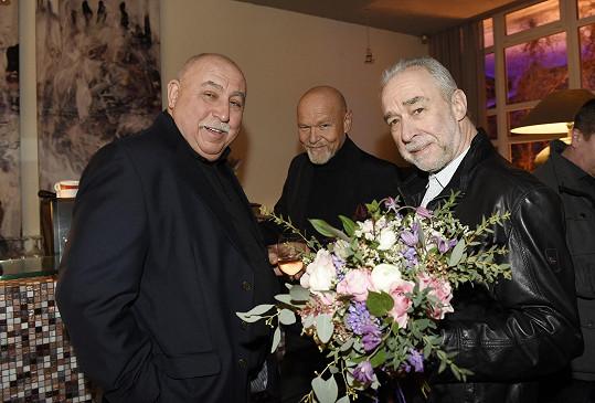 Andrej Hryc, Pavel Rímský a Marek Vašut na oslavě narozenin