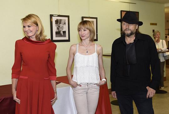 Zahájila výstavu s Darjou Klimentovou a Janem Kunovským.
