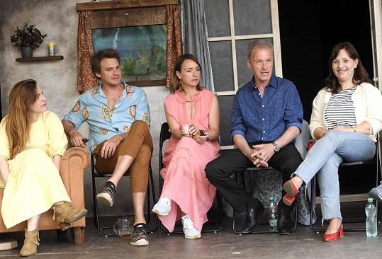 Během tiskové konference k programu letní scény Divadla Ungelt.