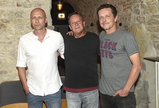 Hudebníci s režisérem Pavlem Bohoňkem