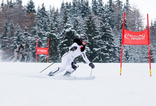 Obvykle ale lyžuje jen rekreačně.