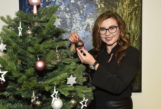 Kvůli atmosféře nechyběl ani vánoční stromeček.