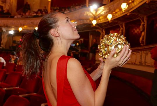 Lucka s cenou pro vítěze v kategorii Mattoni Hvězda internetu