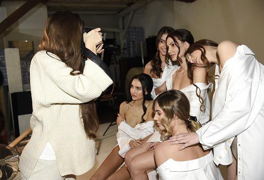 Fotily se s kolegyněmi z Miss Czech Republic.