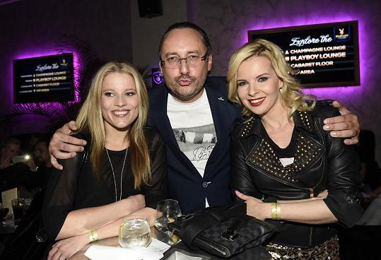 S Marianem Vojtkem a Michaelou Gemrotovou na párty