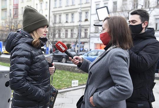 Marta při rozhovoru se Super.cz