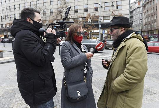 Petr Janda při rozhovoru se Super.cz