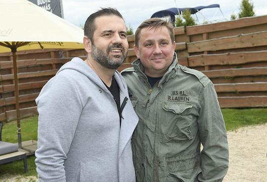 Na křtu knihy Romana Staši se potkal s kolegou Janem Punčochářem z MasterChefa.