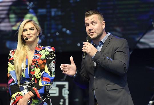 Petr s kolegyní Zorkou Hejdovou, která se ujala odpoledního programu.