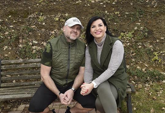 Andrea Kalivodová s manželem Radkem