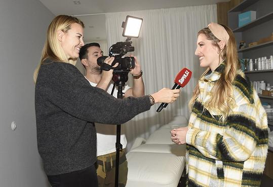 Michaela Hávová během rozhovoru pro Super.cz