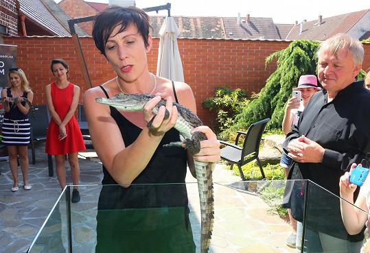 Krokodýly má v oblibě i Kristýna Frejová.