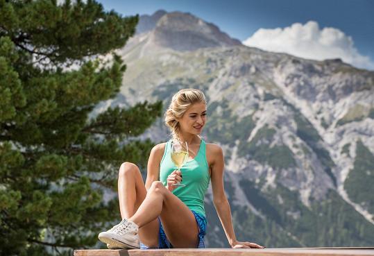 Kristýna během soustředění v jižním Tyrolsku v Itálii