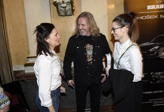 Hanka s Pepou Vojtkem a Ivanou Korolovou po vyhlášení nominací