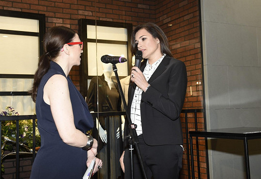 Na akci se Stivínová setkala s Alenou Šeredovou. Divila se, jak je vysoká.