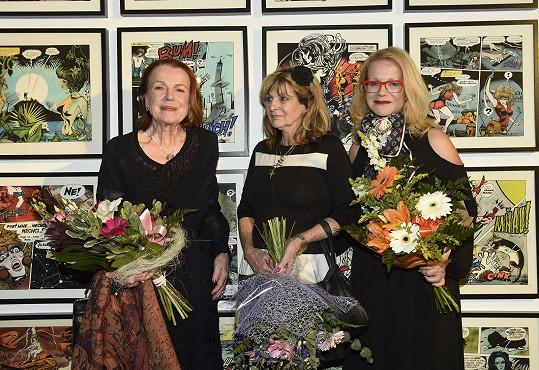 S kmotřičkami výstavy Ivou Janžurovou a Jitkou Asterovou