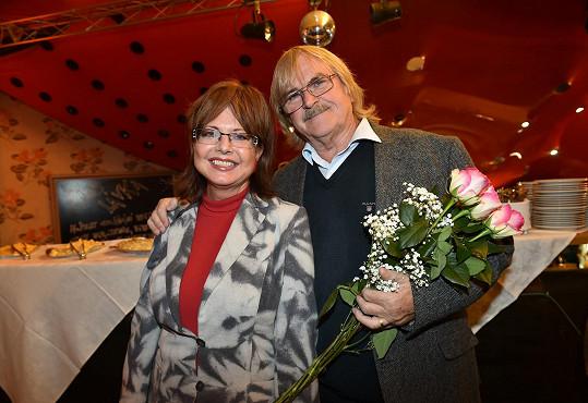 Karel Vágner a Marie Tomsová na křtu knihy