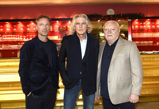 Autoři muzikálu Robinson zleva: Zdeněk Hrubý, Ivan Hubač a Jan Krůta