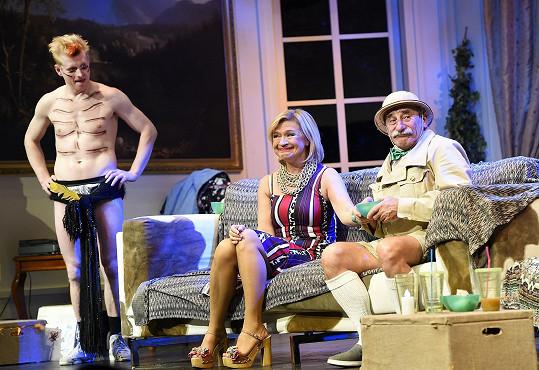 V Kalichu v představení Pro tebe cokoliv zářili s Janou Paulovou.