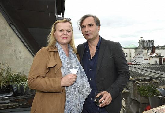 Na setkání herců trilogie Zahradnictví na střeše Paláce Lucerna s kolegou Jiřím Macháčkem