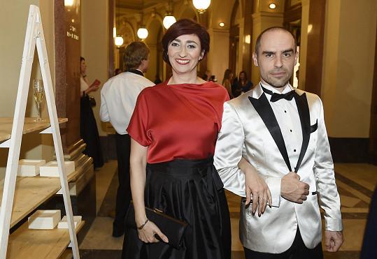 Simona Babčáková s přítelem