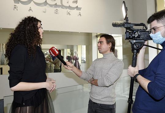 Modelka během rozhovoru pro Super.cz