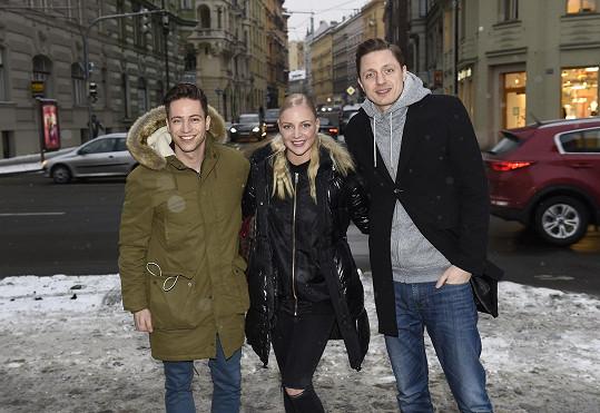 S kolegy ze soutěže Ondřejem Rumlem a Markétou Konvičkovou