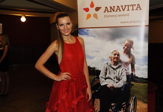 Akci na podporu seniorů trpících civilizační chorobou Veronika organizovala.