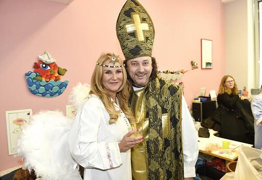 S prezidentkou Kapky naděje Vendulou Svobodovou coby andělem