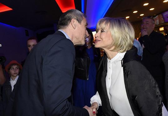 Jana Švandová s Martinem Stropnickým na premiéře