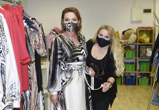 Alena Wilson s Jolanou Voldánovou, která je tváří její letošní kolekce.