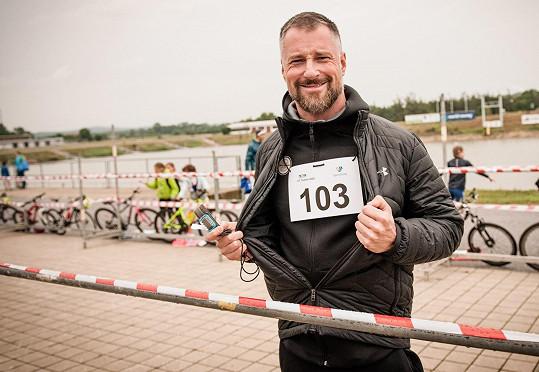 Petr Vágner na startu závodu