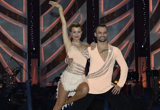 Jitka Schneiderová se svým tanečníkem Markem Dědíkem