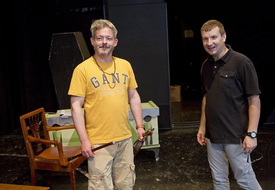 Mezi gratulanty byli i Aleš Háma a režisér Radek Balaš.
