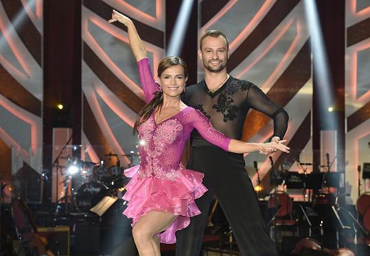 Olga s tanečním partnerem Markem Dědíkem.