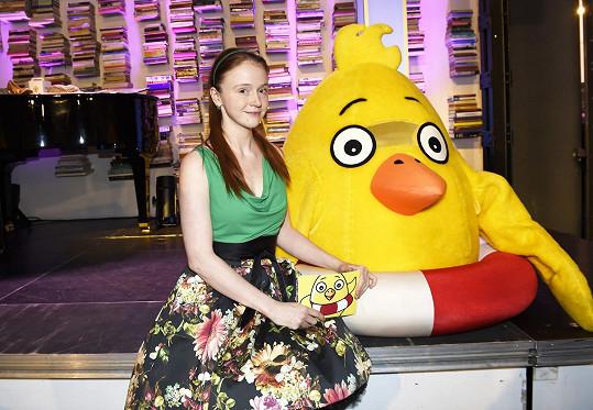 Herečka a blogerka je patronkou projektu Pomozte dětem.