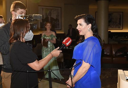 Andrea při rozhovoru se Super.cz