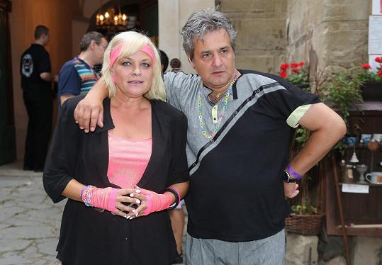 Boura s exmanželkou Markétou Mayerovou