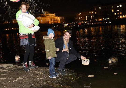 Pepina s Kristianem, synem Michalem a partnerem Ondřejem