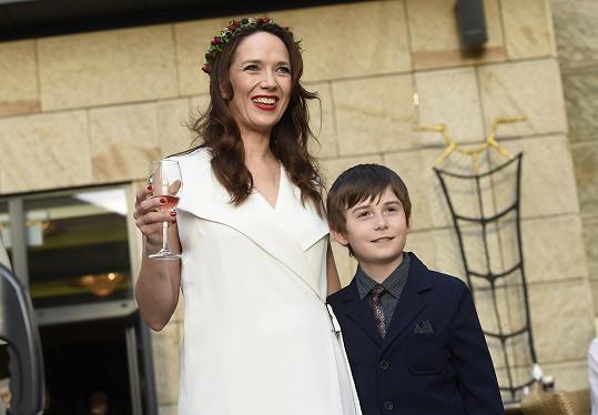 Tereza se synem Toníkem