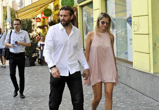 Jaromír s partnerkou Veronikou Kopřivovou