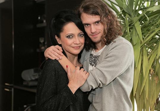 Lucie Bílá se synem Filipem Kratochvílem, který je pro ni vším.