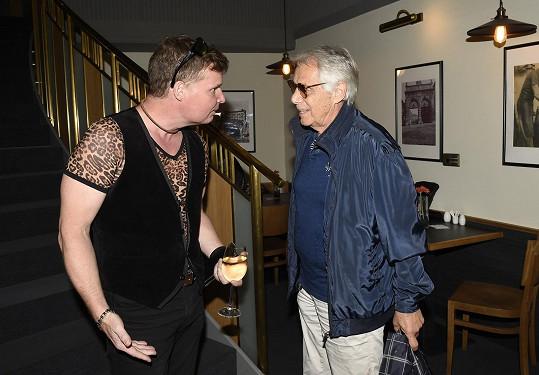 Koncert Noc s hvězdami pořádá již podvacáté Martin France (na snímku s Josefem Lauferem).