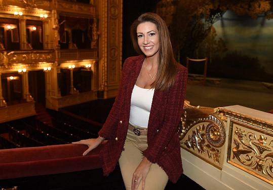Štěpánka Pučálková v Národním divadle, kde byla za svoji roli v opeře Werther nominována na cenu Thálie.