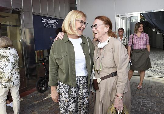 S kolegyní Ivou Janžurovou